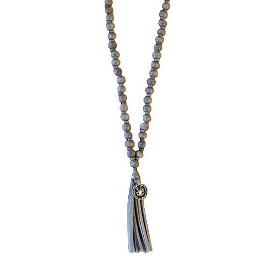 halsband tofs shell grå