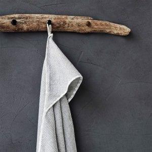 baby grå handduk