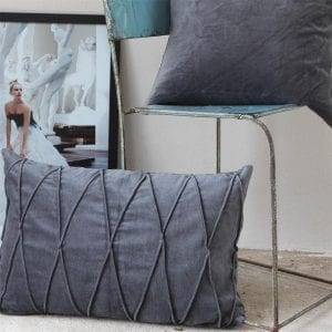 Gripsholm Kuddfodral - Cushion Cover Ina Gots Antracite 40x60 cm