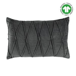 Gripsholm Kuddfodral Cushion Cover Ina Gots Antracite 40x60