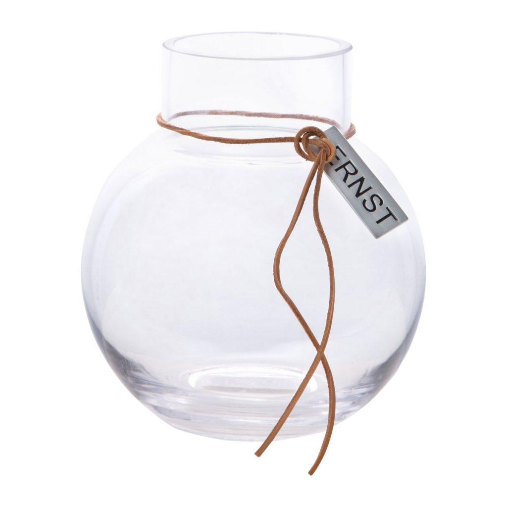 ernst glasvas rund liten 13 cm
